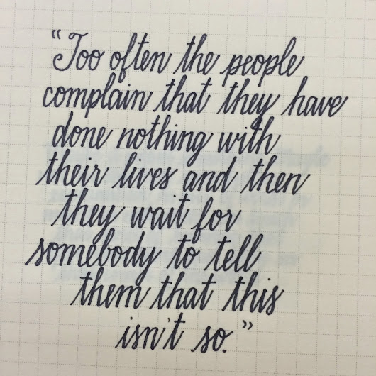 calligraphy musings: old & new