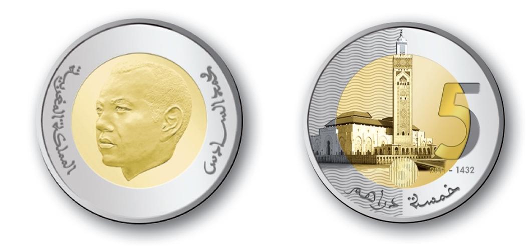 maroc nouvelles pi ces de monnaie au maroc. Black Bedroom Furniture Sets. Home Design Ideas