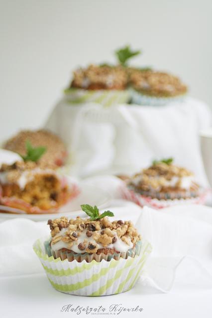 babeczki, muffiny, ciasto marchewkowe, ciasto z orzechami, daylicooking