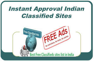 Instant Approval Indian Classified Sites List