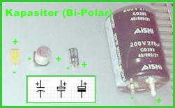 Jenis Condensator Bi-Polar dan Fixed
