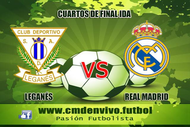 Leganes, real Madrid, Copa del Rey , en vivo , 18 de enero
