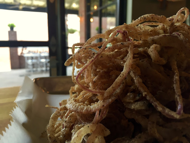 Onion Straws go great on or with your burger!