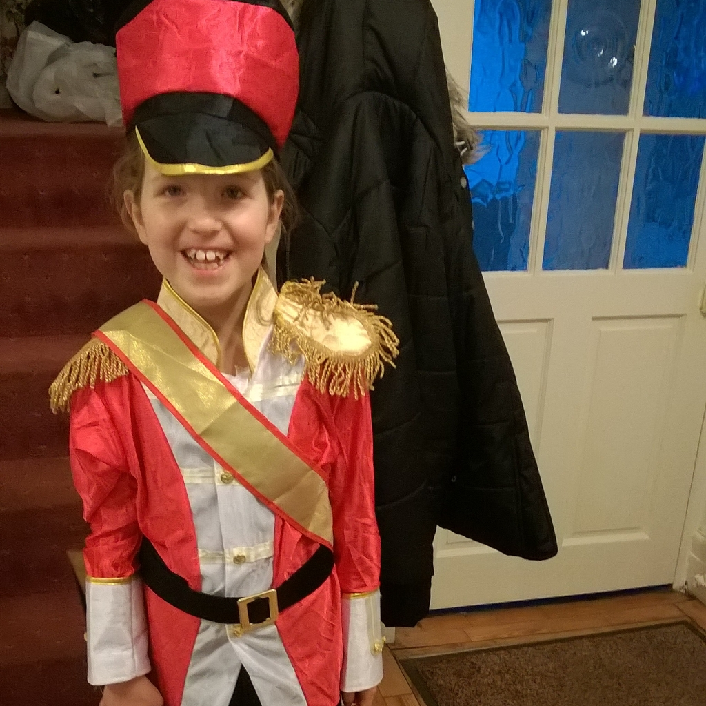 Caitlin Hobbis dressed as a soldier