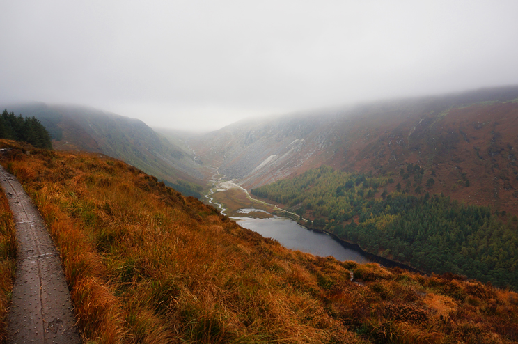 View from Glendalough cliffs