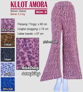 Celana kulot motif cantik - amora 3