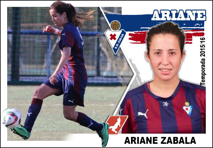 Gorriteando un poco: Cromo Sd Eibar femenino 2015/16, ARIANE