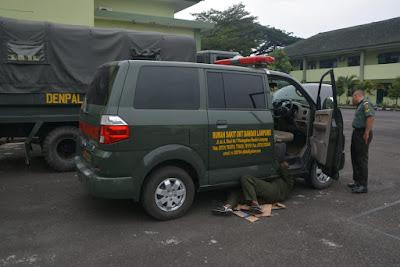 Uji Kendaraan Prajurit, Denpal Gatam Lampung Utamakan Keselamatan Anggota di Jalan Raya