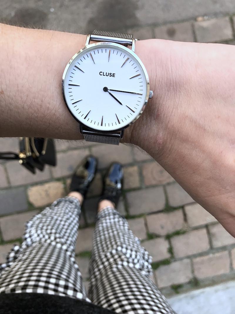 montre cluse argenté