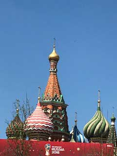 The onion domes of Moscow