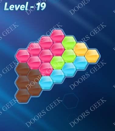 Block! Hexa Puzzle [5 Mania] Level 19 Solution, Cheats, Walkthrough for android, iphone, ipad, ipod