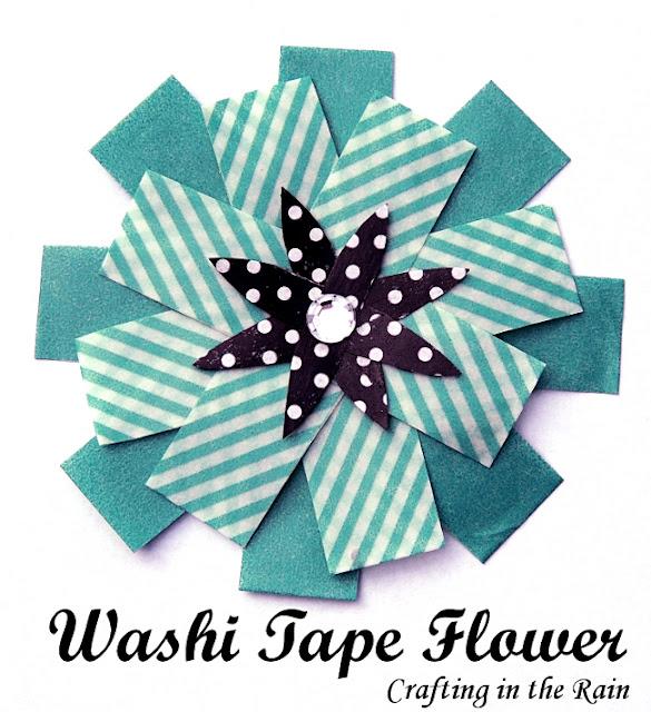 make washi tape flower