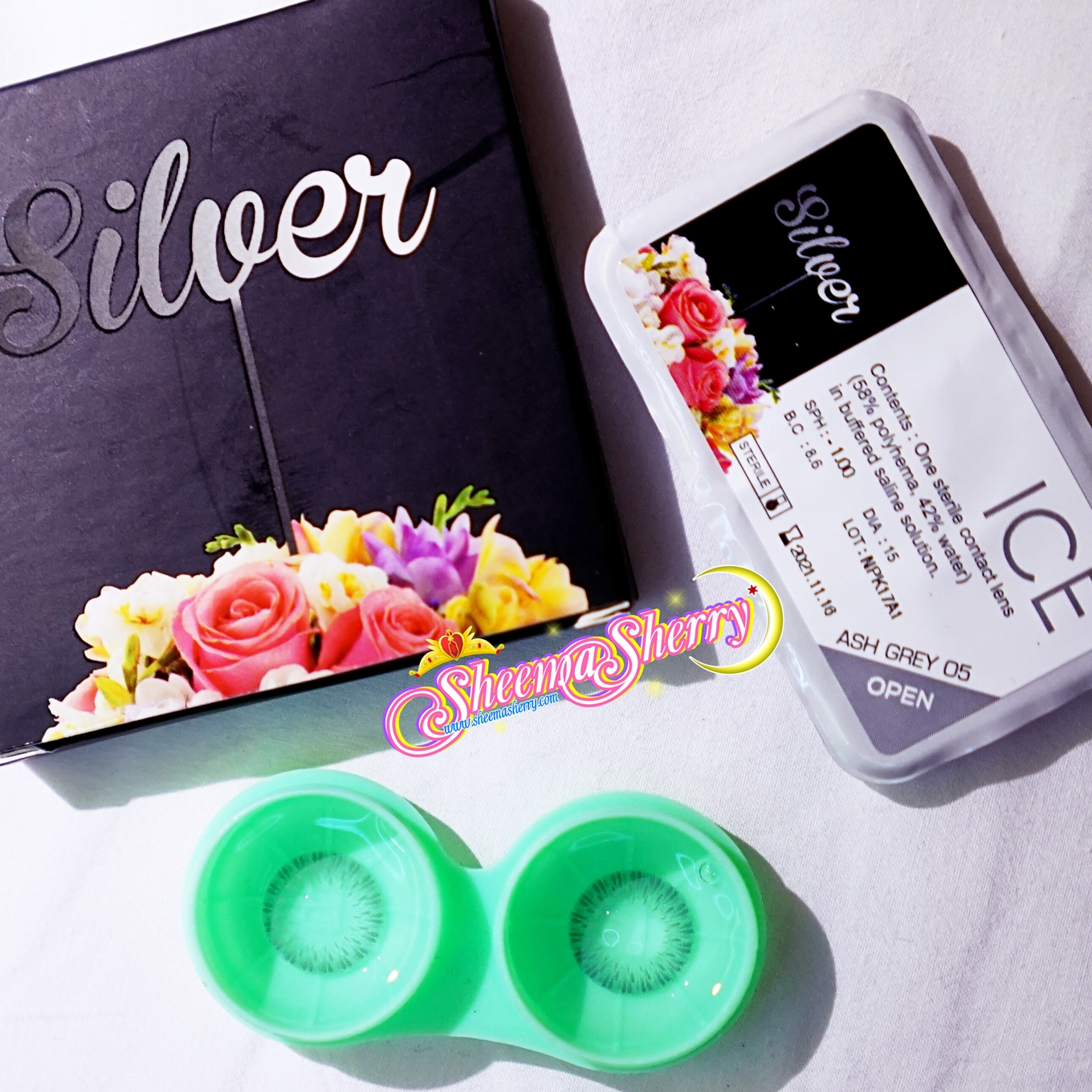 [REVIEW] X2 Exoticon Silver Ice ( 04 Icy Grey & 05 Ash Grey ) Karakon soft lenses contact lenses kawaii hijabi sheemasherry