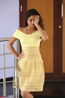 Shipra gaur in V Neck short Yellow Dress ~  029.JPG