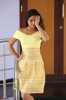 Shipra gaur in V Neck short Yellow Dress ~  029.JPG
