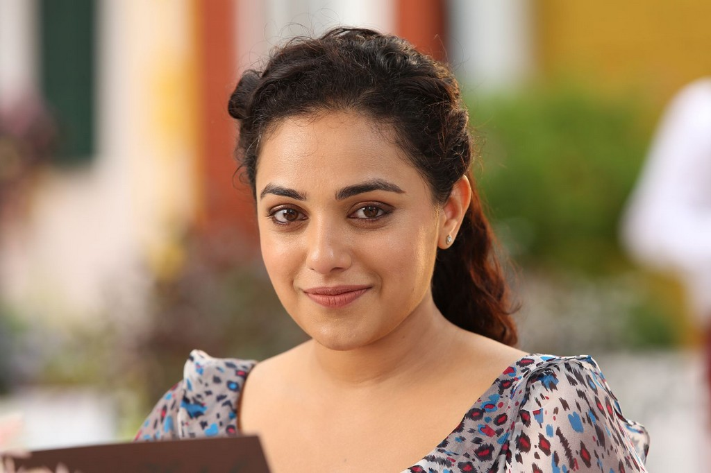 Movie Actress Nithya Menon Face Close up Stills