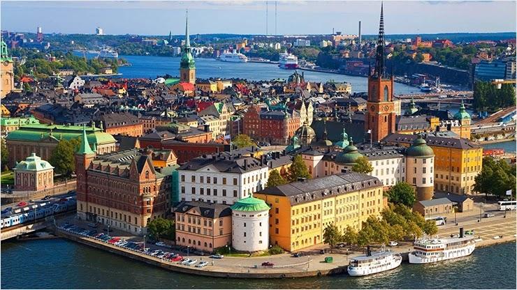 Швеция одна из популярных стран для туризма