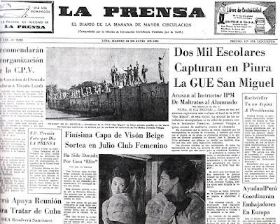 Resultado de imagen para Fotografias del diario La Prensa de Lima