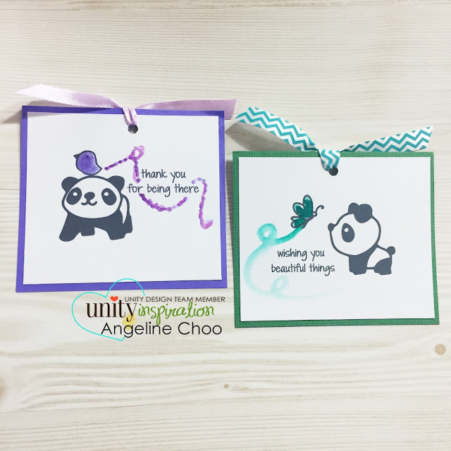 ScrappyScrappy: Mini Cards and Bookmarks [NEW VIDEOS] #scrappyscrappy #unitystampco #cute #ribbon #handmade #bookmark #panda #stamp #papercraft #watercolor #peerless