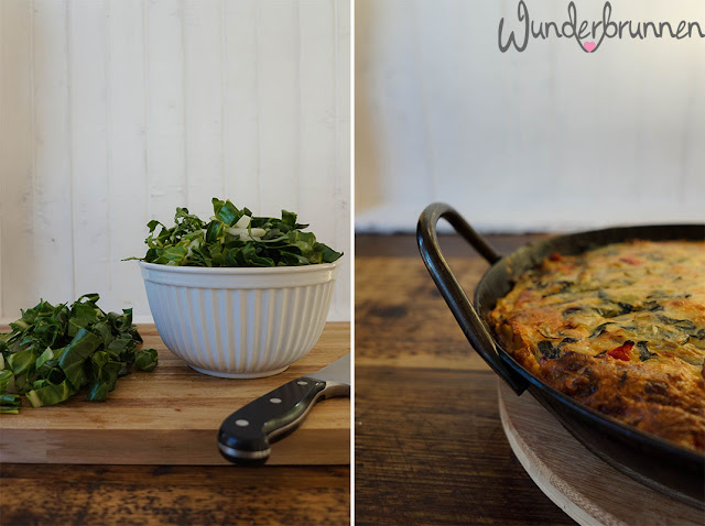 Tortilla mit Mangold