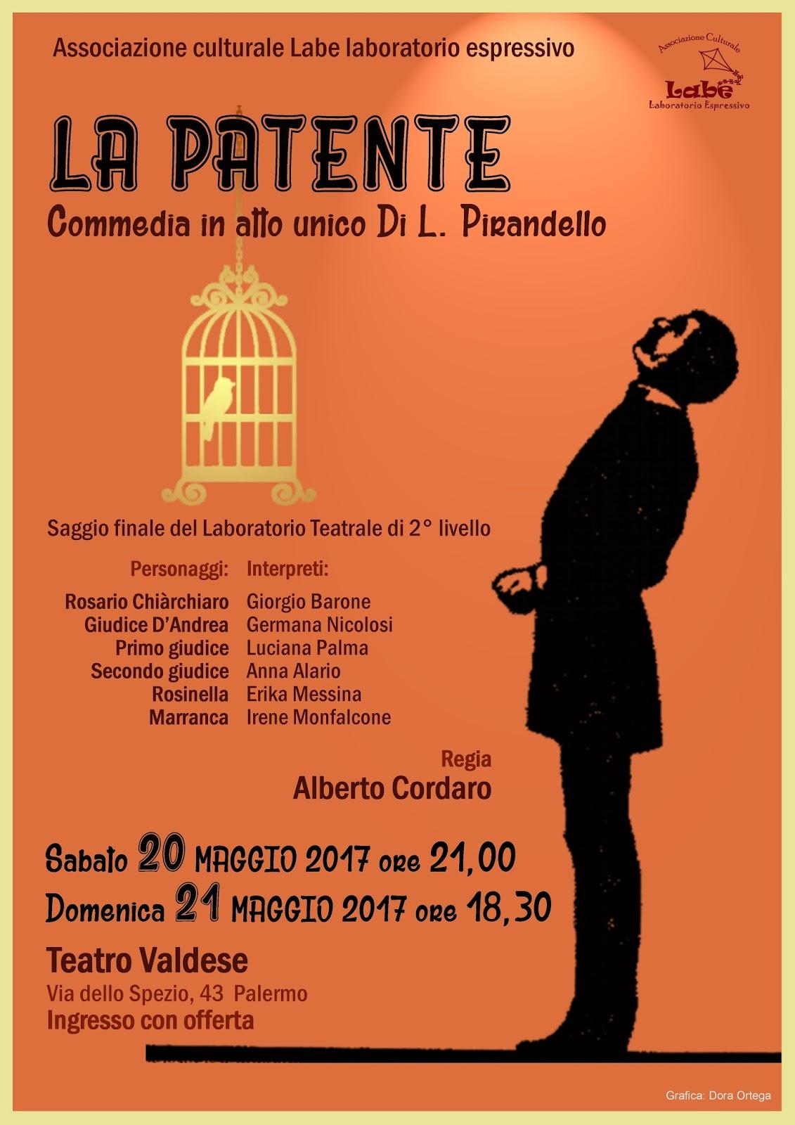 """Estremamente LABE Laboratorio Espressivo: Prossimo spettacolo teatrale """"La Patente"""" YF51"""