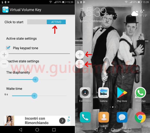 Virtual Volume Keys app Android