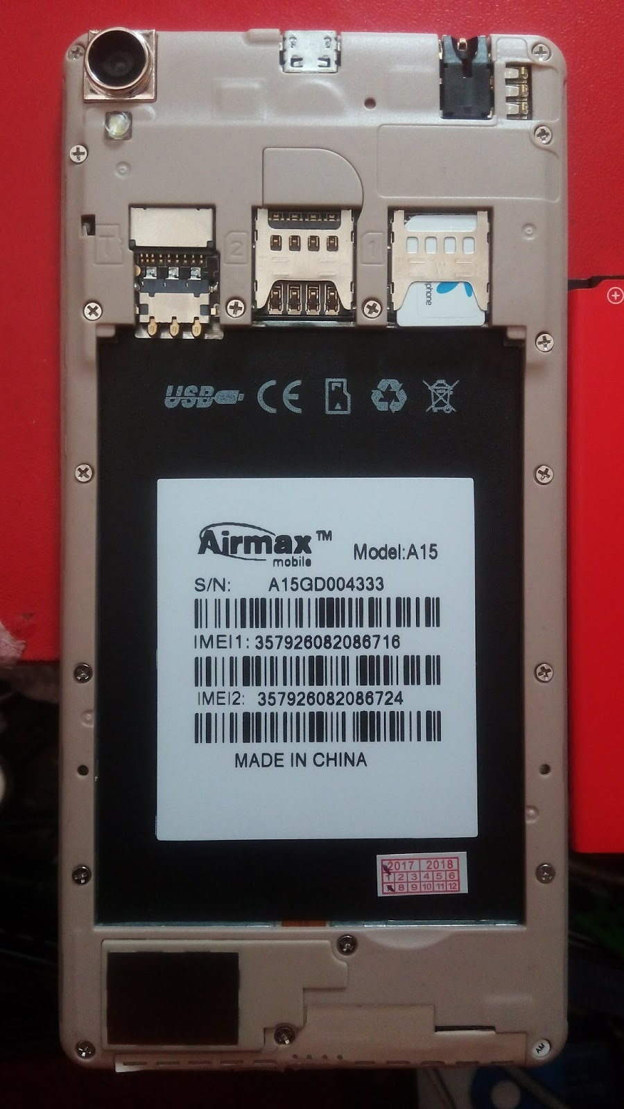 Airmax a15 flash file mt6572 v1 0 official stock firmware download