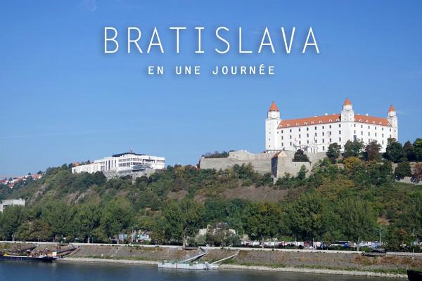 bratislava château danube vue pont UFO