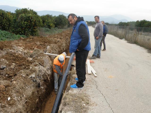 Ξεκίνησαν οι εργασίες υδροδότησης των οικισμών Ανυφίου και Πουλακίδας απο την ΔΕΥΑ Ναυπλίου