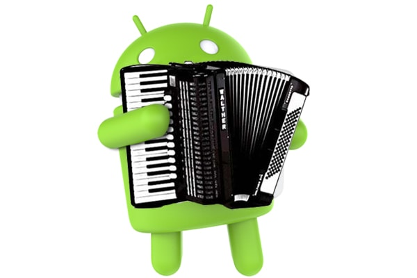 android tocando acordeon