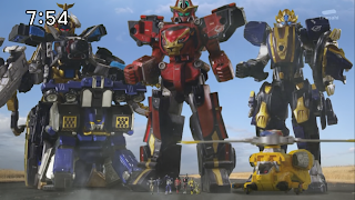 The mecha (or megazords) of Tokumei Sentai Go-Busters
