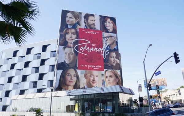Romanoffs series launch billboard