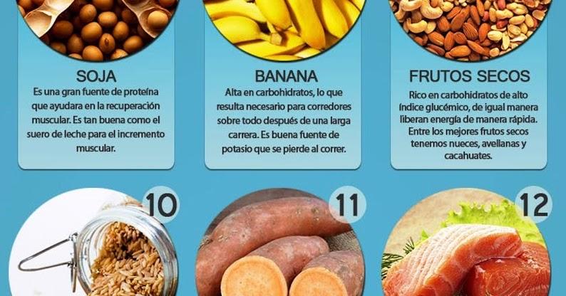 Alimentos para rapida recuperacion muscular