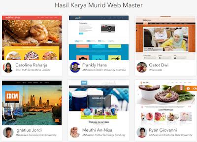 Hasil Karya Peserta Kursus Website DUMET School