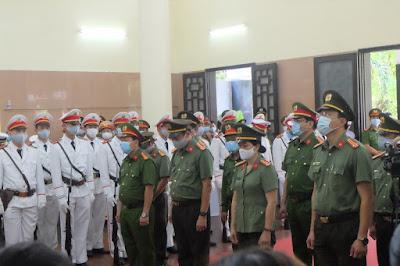 Đà Nẵng: Nghẹn ngào buổi lễ truy điệu 2 công an hy sinh