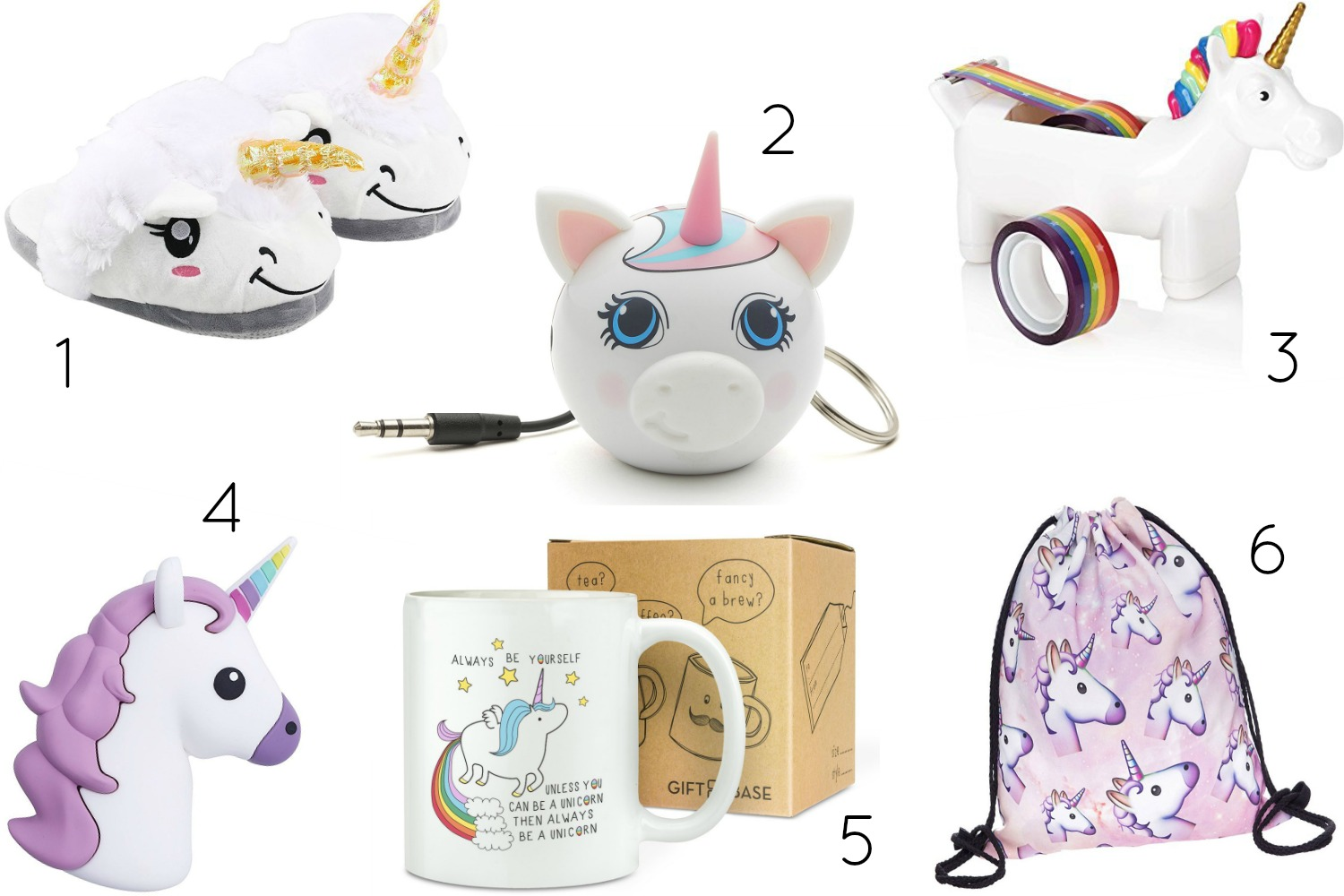 Ideas de regalo con unicornios