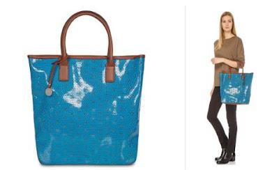 bolso shopping color turquesa
