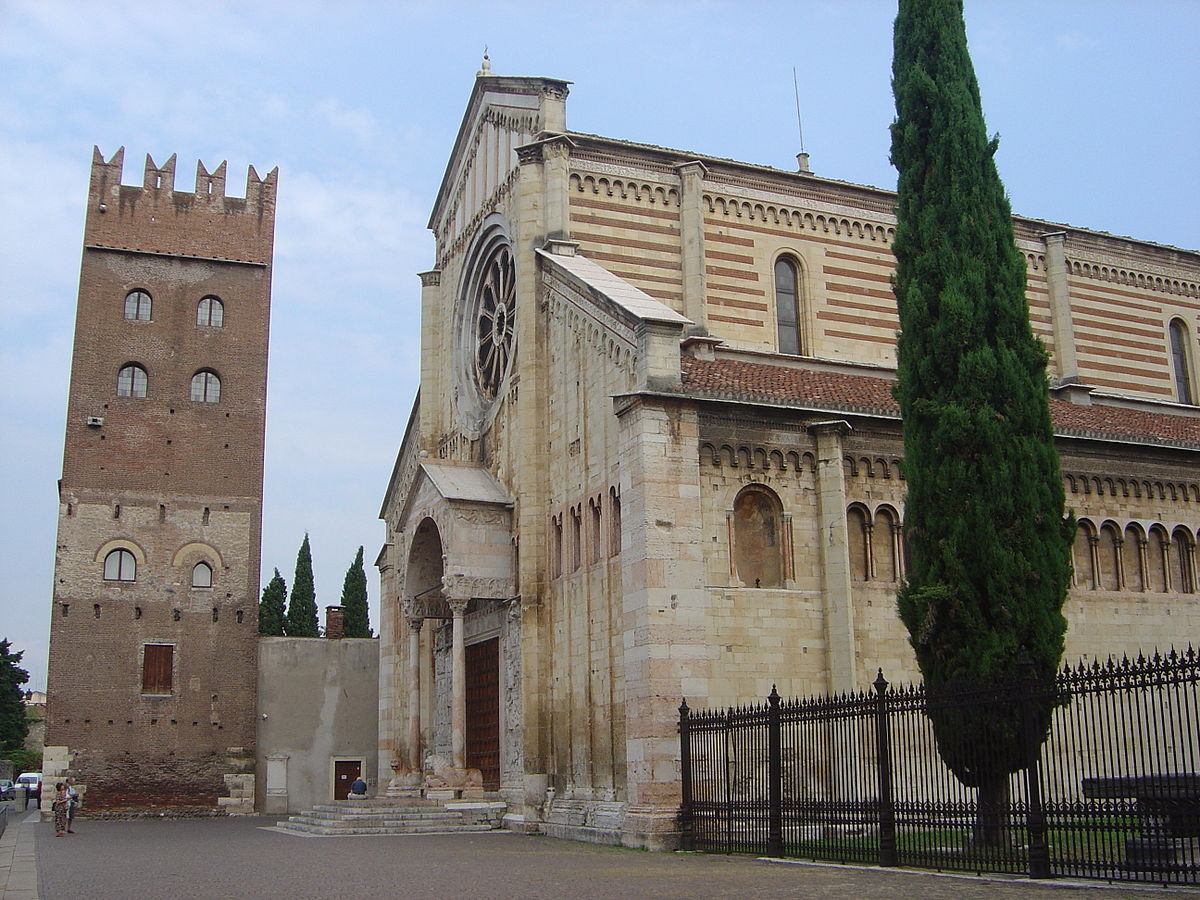San Zeno in Verona, Italy, is home to the city's patron Saint. Photo: WikiMedia.org.