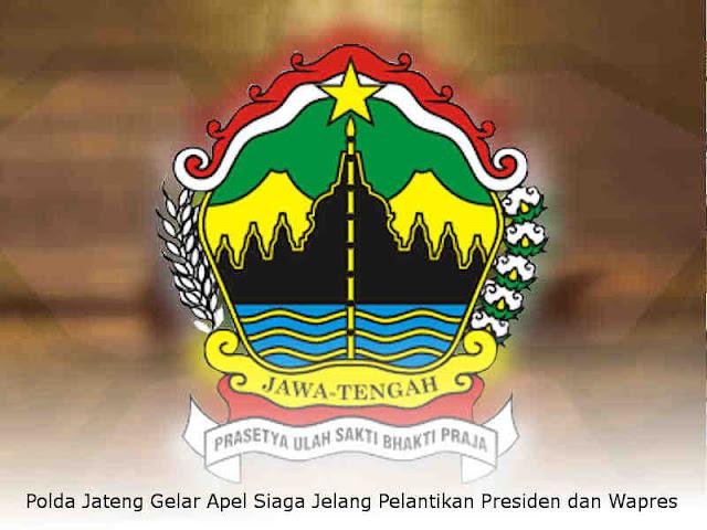 Polda Jateng Gelar Apel Siaga Jelang Pelantikan Presiden dan Wapres