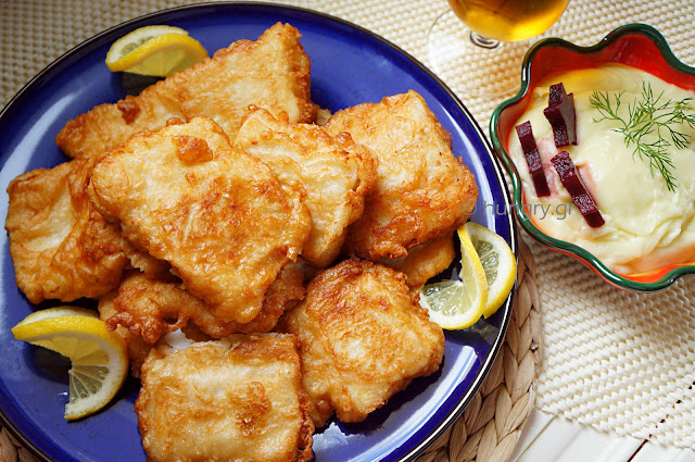 Fried Salt Cod & Garlic Dip