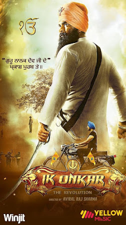 Poster Of Pollywood Movie Ik Onkar 2017 300MB HDRip 480P Full Punjabi Movie