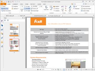 Foxit Reader portable sceenshot