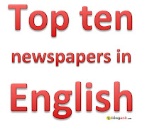 Top ten daily newspapers in English