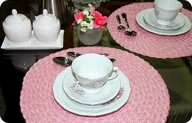Mesa Café / Chá da Tarde em Rosa