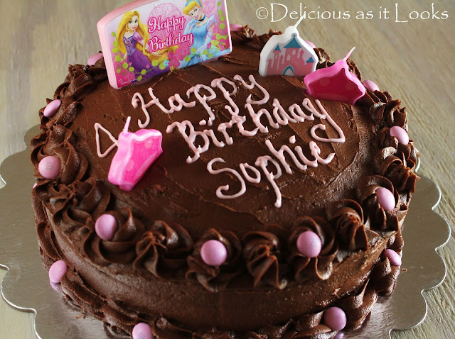 Chocolate Princess Birthday Cake  |  Delicious as it Looks