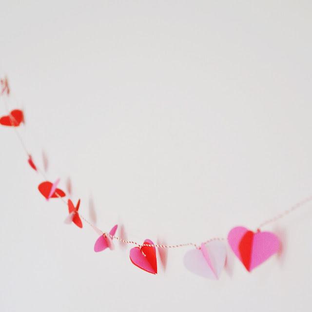 Guirnalda de corazones 3D - tutorial