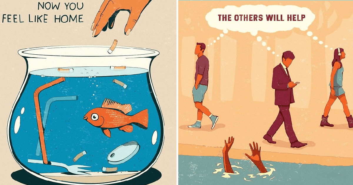 30 Honest Illustrations Depict The Problems Of Modern Society
