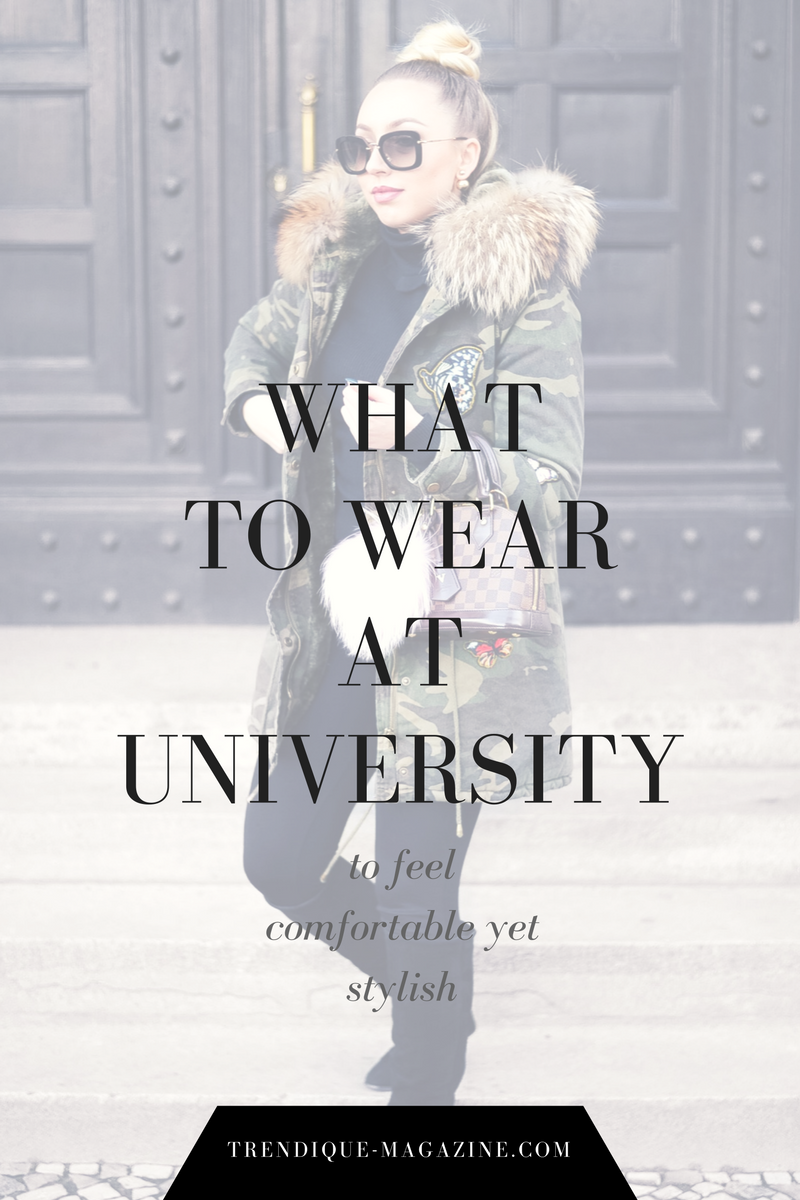 what to wear at university_camo parka_fur parka