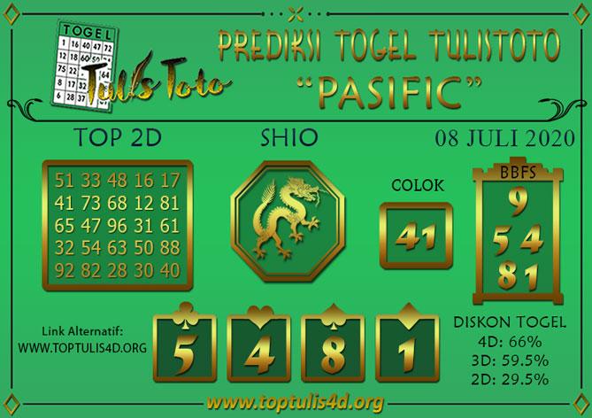 Prediksi Togel PASIFIC TULISTOTO 08 JULI 2020