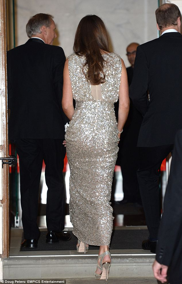 Kate Middleton Wears A Glittering Jenny Packham Gown And